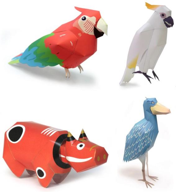 Склеить своими руками объемные поделки - модели животных из бумаги будет интересно не только детям но и взрослым.